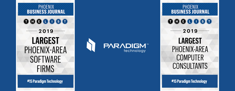 Paradigm Makes the Phoenix Business Journal Lists